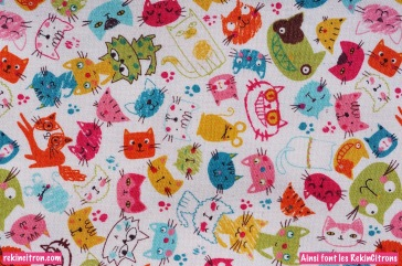 Tissu Chats Vénèrs