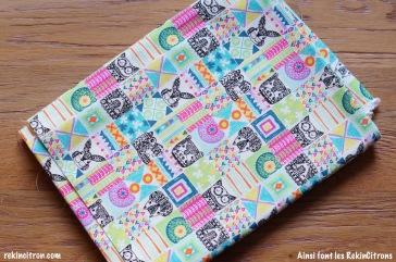 Tissu japonnais animaux totems