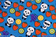 Tissu japonnais kokka panda fraise