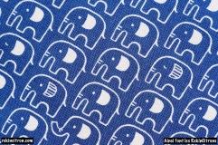 Tissu kokka japonnais elephants detail