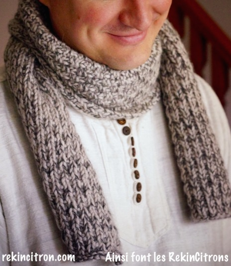 l echarpe pour homme de beau papa tuto tricot ainsi font les rekincitrons. Black Bedroom Furniture Sets. Home Design Ideas