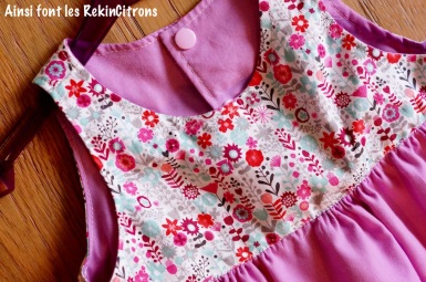 robe fronce rose 2