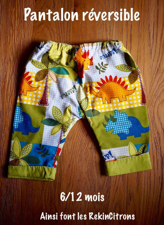 Pantalon enfant dinosaures