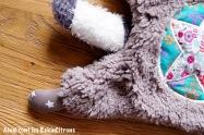 Peluche raton laveur fille fait main 5