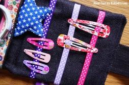pochette barrettes elastiques petite fille couture fait main 5