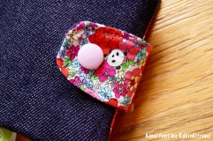 Pochette barrettes fille panda fleurs 6