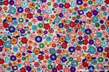 tissu fleurs retro liberty detail