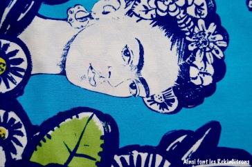 tissu frida kahlo bleu
