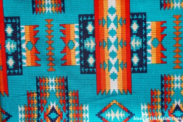 tissu indien geometrique detail
