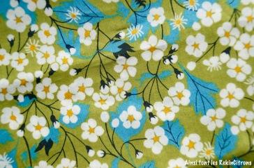 tissu liberty mitsy vert detail