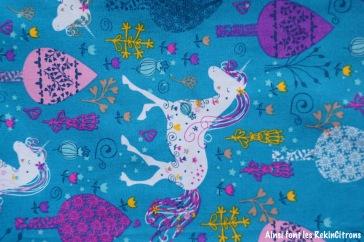 tissu licornes detail