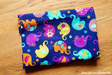 tissu miller elephants violet