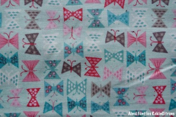 tissu papillon pastel detail