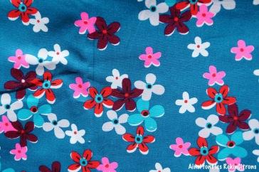 tissu petit pan fleurs ocean detail