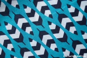 tissu plumes ethniques detail