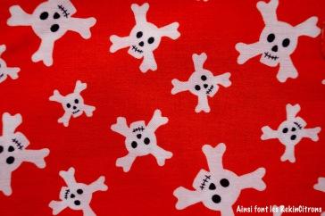 tissu riley blake tete de mort pirate detail