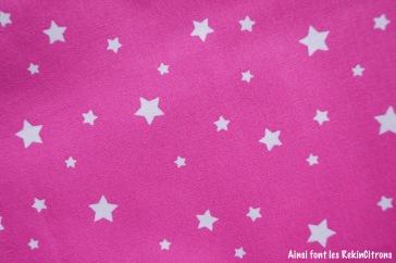 tissu rose etoiles detail