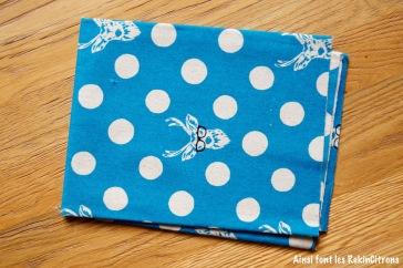 tissu toile cerf bleu