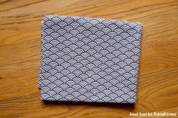tissu toile ecailles noire