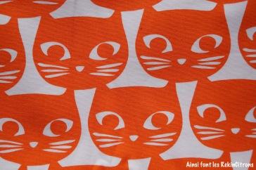tissu toile ikea chats oranges detail