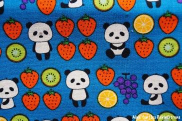 tissu toile kobayashi panda fruits detail