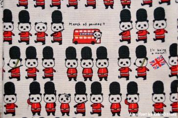 tissu toile kobayashi pandas britanniques detail
