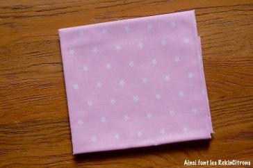 tissu toile rose etoiles pales