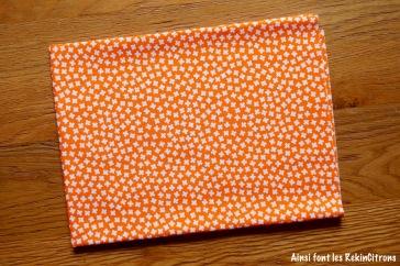 tissu trefles orange