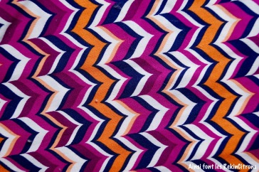 tissu zigzag violet orange detail