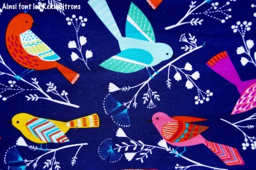 Tissus oiseaux miller detail