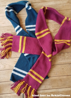 Echarpes harry potter couverture